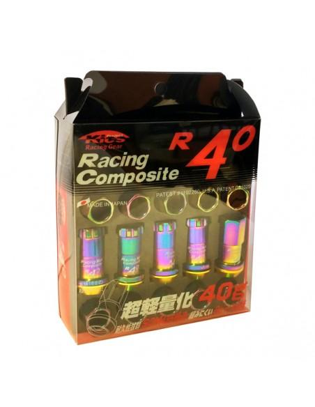 TUZST2X25RAINBOW     -PACK 20 TUERCAS+2 LLAVES RACING 12X125 RAINBOW